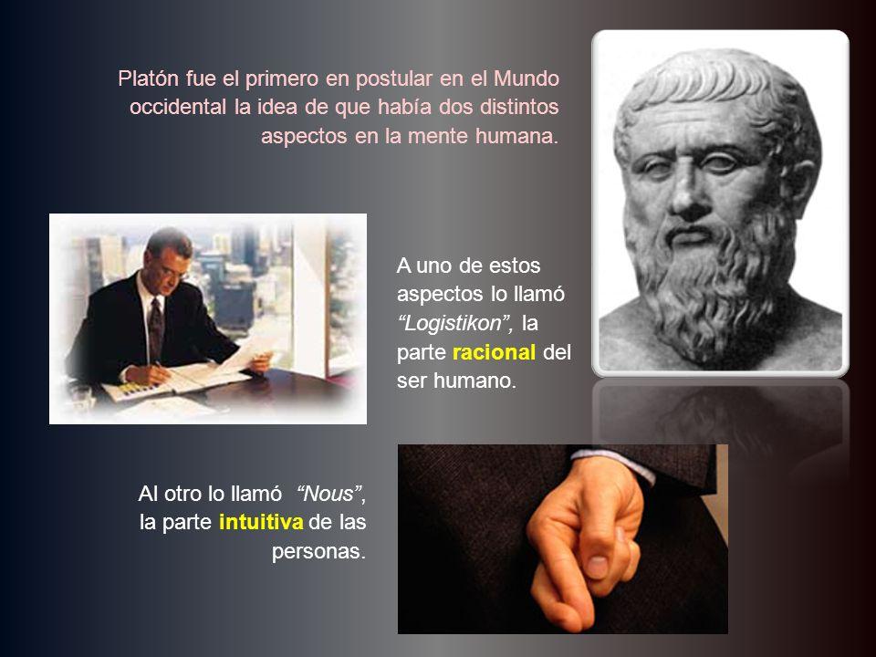 Platón fue el primero en postular en el Mundo occidental la idea de que había dos distintos aspectos en la mente humana. A uno de estos aspectos lo ll