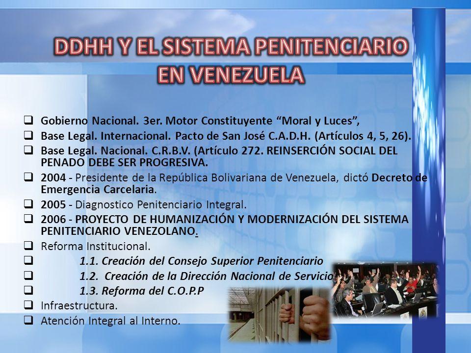 Gobierno Nacional.3er. Motor Constituyente Moral y Luces, Base Legal.