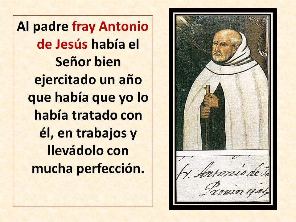 Al padre fray Antonio de Jesús había el Señor bien ejercitado un año que había que yo lo había tratado con él, en trabajos y llevádolo con mucha perfe