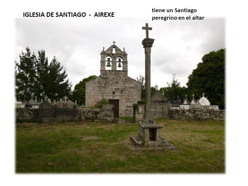 IGLESIA DE SANTIAGO - AIREXE tiene un Santiago peregrino en el altar