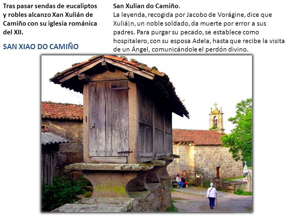 Tras pasar sendas de eucaliptos y robles alcanzo Xan Xulián de Camiño con su iglesia románica del XII. SAN XIAO DO CAMIÑO San Xulian do Camiño. La ley