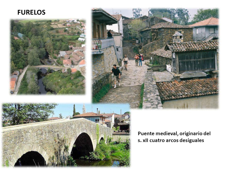 Puente medieval, originario del s. xII cuatro arcos desiguales