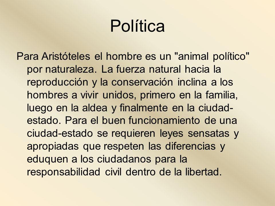 Política Para Aristóteles el hombre es un