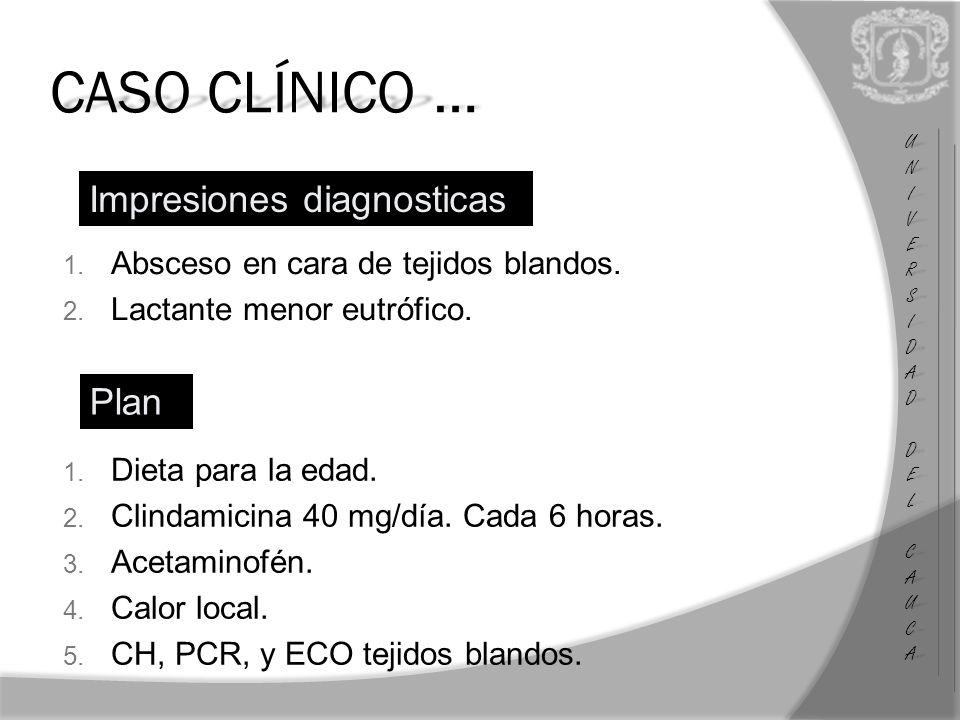 UNIUNIVERSVERSIDADIDAD DEL DEL CAUCA CAUCAUNIUNIVERSVERSIDADIDAD DEL DEL CAUCA CAUCA CASO CLÍNICO … Impresiones diagnosticas 1.