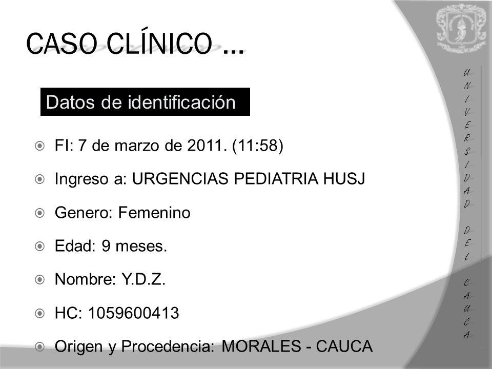 CASO CLÍNICO … FI: 7 de marzo de 2011.