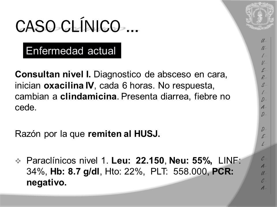 CASO CLÍNICO … UNIUNIVERSVERSIDADIDAD DEL DEL CAUCA CAUCAUNIUNIVERSVERSIDADIDAD DEL DEL CAUCA CAUCA Consultan nivel I.