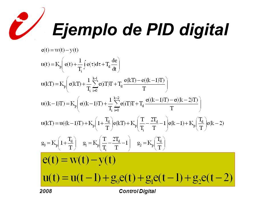 2008Control Digital Ejemplo de PID digital