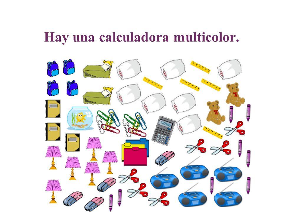 Hay una calculadora multicolor.