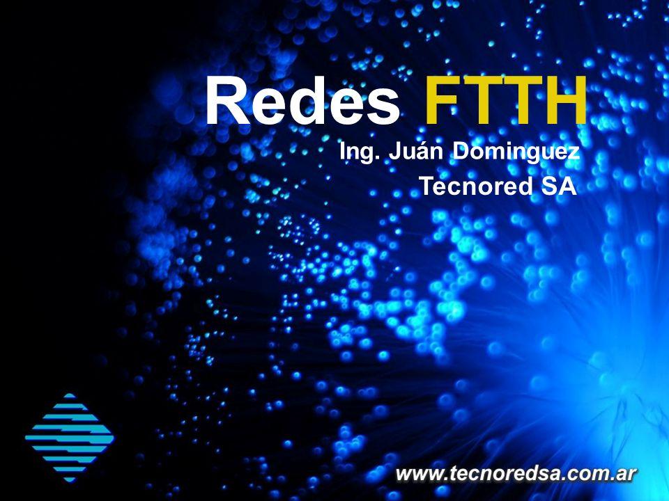 Contenidos Acerca de Tecnored SA Introducción a Redes FTTH Servicio de Valor Agregado sobre redes FTTH Ventajas con respecto a otro tipo de redes ( HFC, ADSL ) Distancias máximas y anchos de banda disponible Costos de Mantenimiento y operación de la red Arquitectura de Redes PON Diferentes tipos de diseño de Red Componentes de la red de distribución y usuario Integración con redes de Televisión Analógica Soluciones.