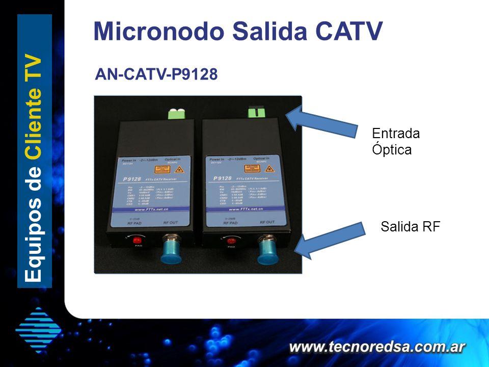 Micronodo Salida CATV Equipos de Cliente TV Salida RF Entrada Óptica AN-CATV-P9128