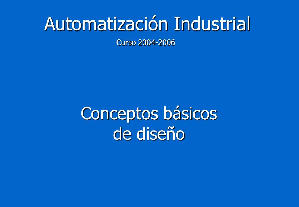 Automatización Industrial Conceptos básicos de diseño Curso 2004-2006