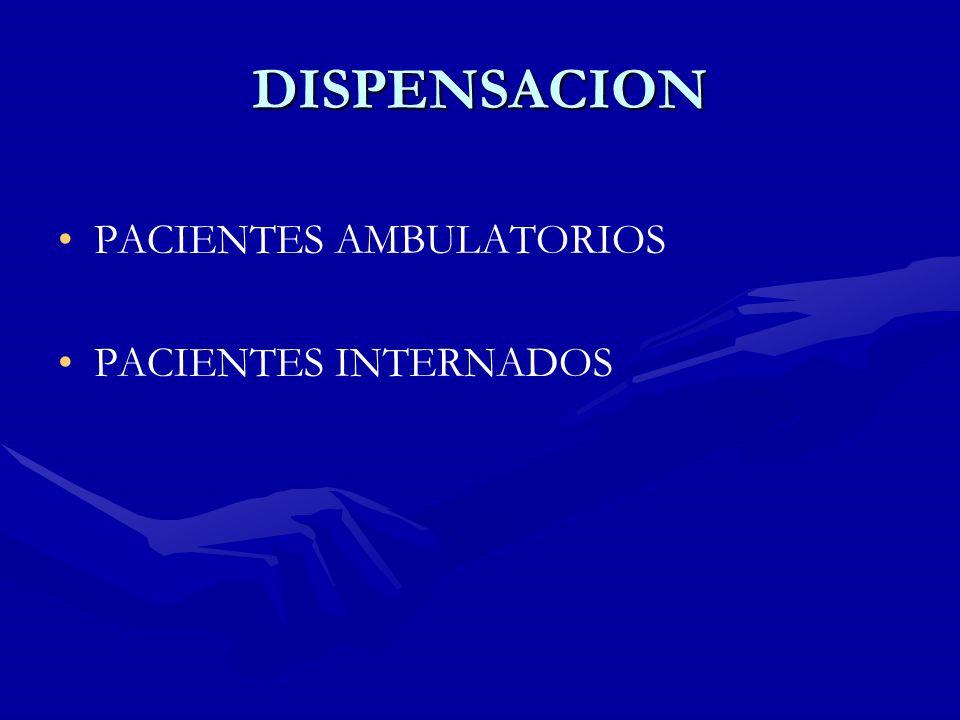 PACIENTES AMBULATORIOS DISPENSACION SEGUIMIENTO INFORMACION ASESORAMIENTO ADHERENCIA AL TRATAMIENTO