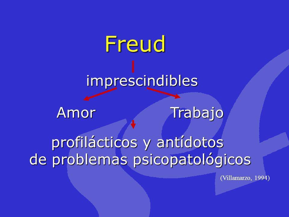 Freud (Villamarzo, 1994) Trabajo profilácticos y antídotos de problemas psicopatológicos imprescindibles Amor
