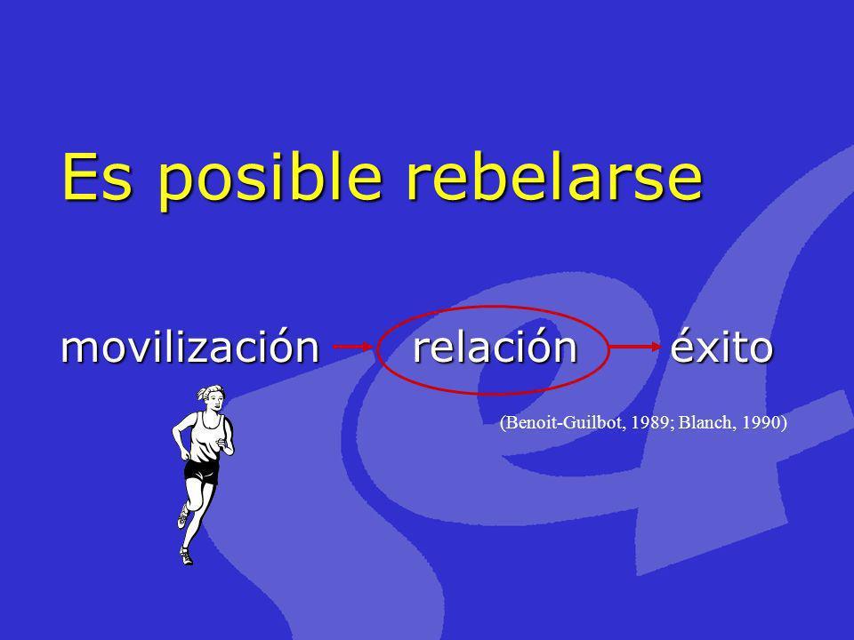 Es posible rebelarse movilización relación éxito (Benoit-Guilbot, 1989; Blanch, 1990)