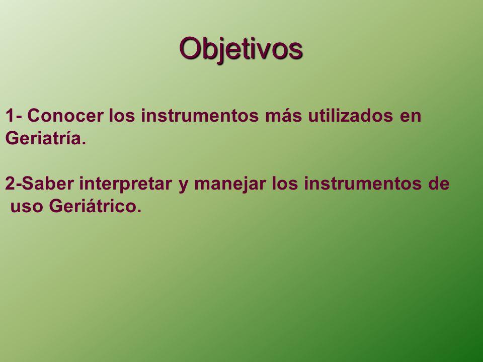 Instrumentos más utilizados