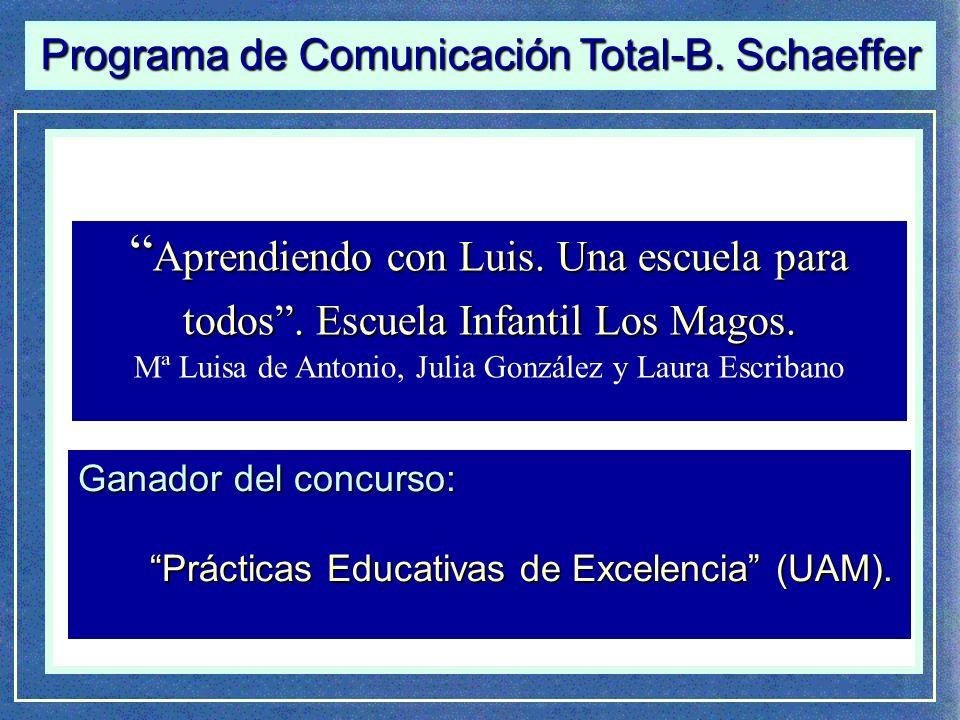 Comunicación Total-Habla Signada de B.Schaeffer Aprendiendo con Luis.