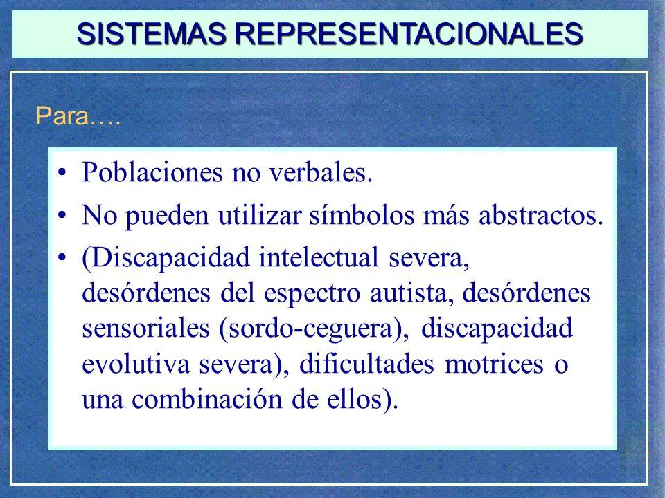 SISTEMAS REPRESENTACIONALES Características….