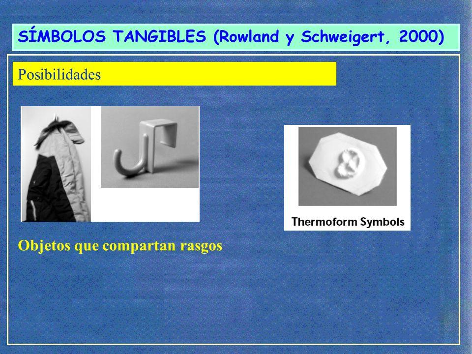 SÍMBOLOS TANGIBLES (Rowland y Schweigert, 2000) ¿Cómo seleccionar estos objetos.