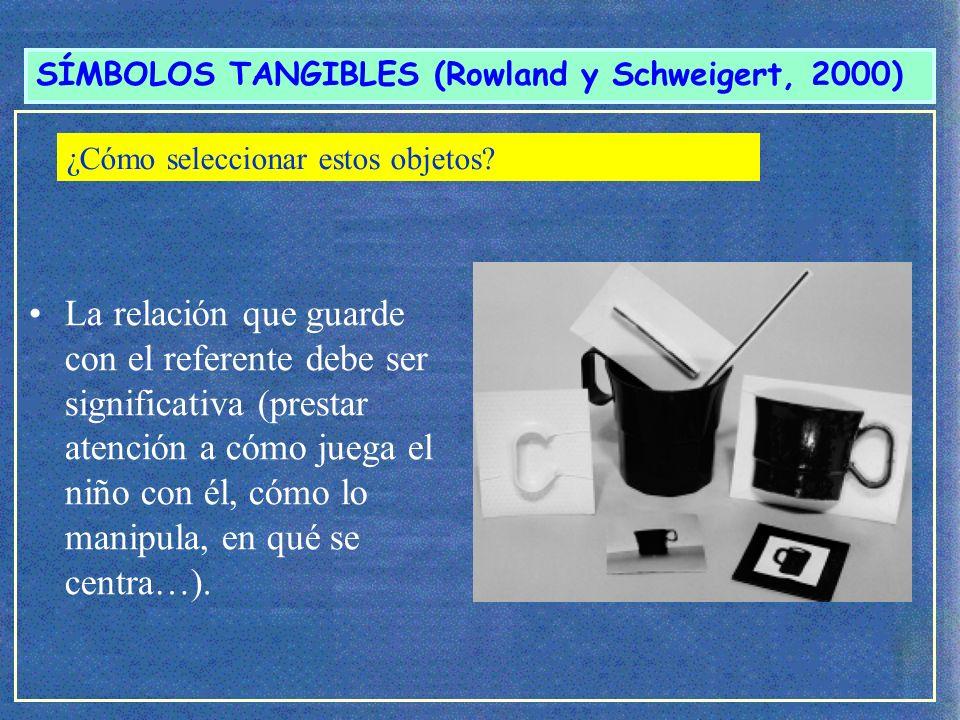 SÍMBOLOS TANGIBLES (Rowland y Schweigert, 2000) 2.