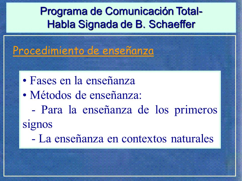 Programa de Comunicación Total-B.