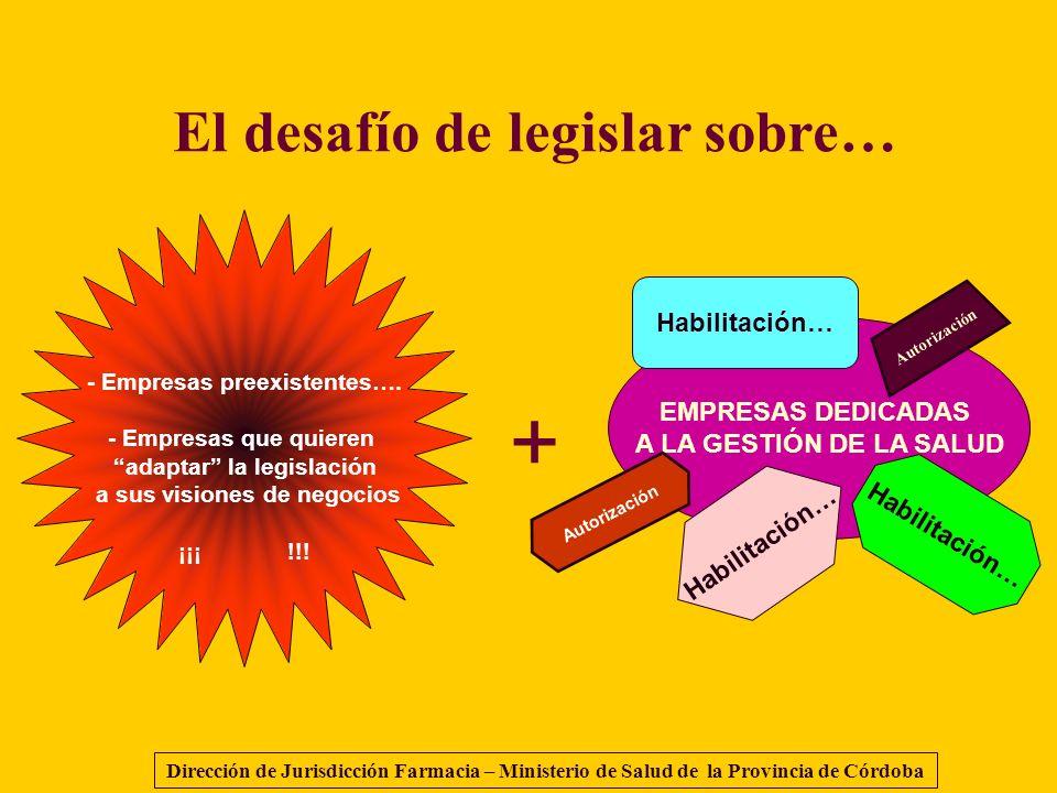 - Empresas preexistentes…. - Empresas que quieren adaptar la legislación a sus visiones de negocios ¡¡¡ !!! + EMPRESAS DEDICADAS A LA GESTIÓN DE LA SA