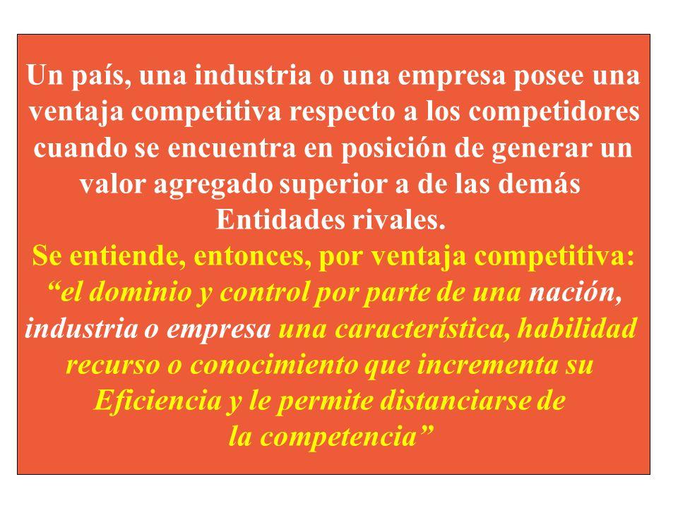 Ventaja absoluta. Existe cuando para la producción una mercancía se requieren pocos recursos por unidad producida en comparación con los competidores.