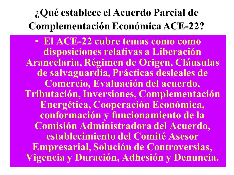 1.Cooperación turística 2.Modificación de listas de preferencias arancelarias 3.Acuerdo Fitosanitario con normas en materia de cuarentena agrícola y f