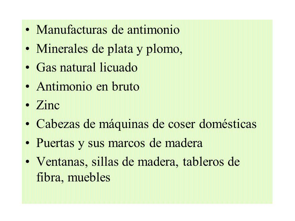 Los principales productos de exportación bolivianos están en los siguientes rubros: Complejos oleaginosos Harinas, tortas y aceites oleaginosos Estaño
