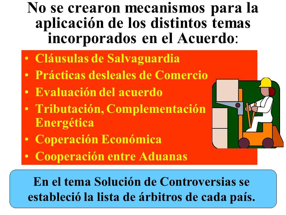 El Protocolo Adicional suscrito en septiembrede 1994 sobre Promoción y Protección recíproca a las Inversiones, no entró en vigencia porque el parlamen