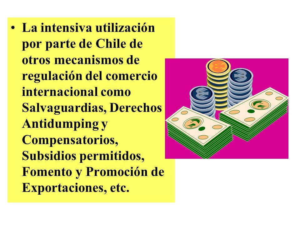 El sistema de franjas de precios que aplica Chile para el trigo, el azúcar, oleaginosas y los derivados que de estos tres productos resultan. El insuf