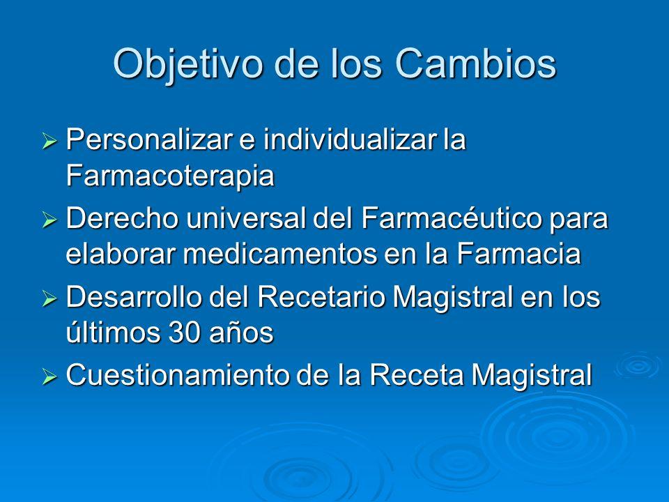 Receta Magistral Es aquella en que un profesional legalmente habilitado prescribe una fórmula especial para un enfermo determinado la que debe elaborarse en el momento de su presentación.