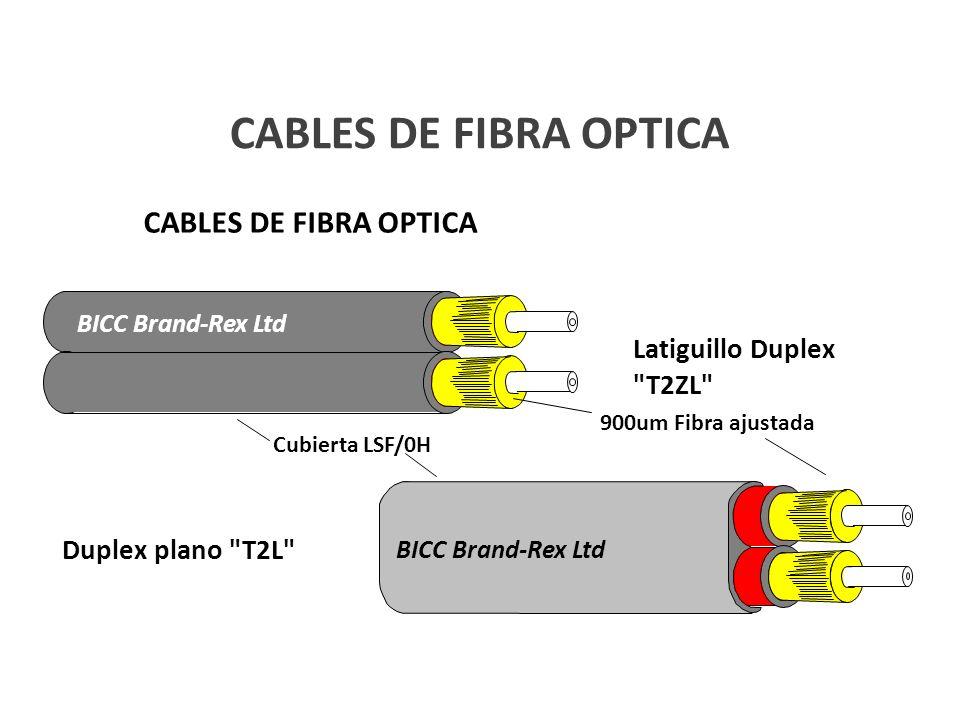 CABLES DE FIBRA OPTICA BICC Brand-Rex Ltd Latiguillo Duplex