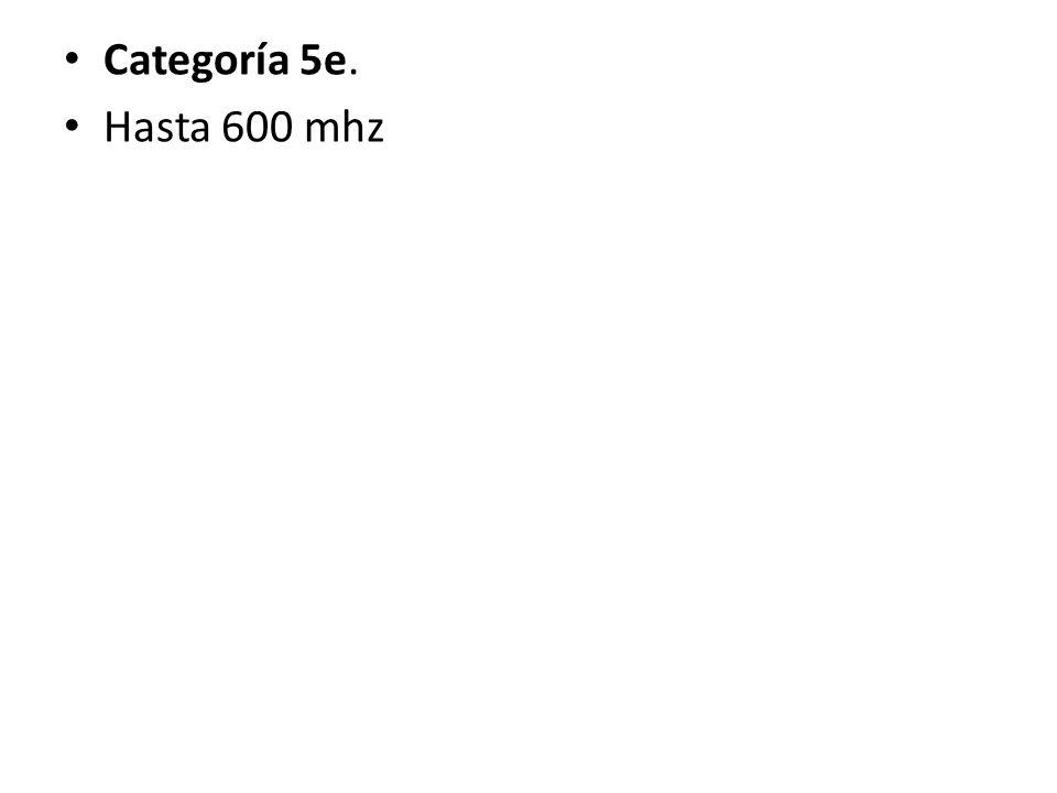 Categoría 5e. Hasta 600 mhz