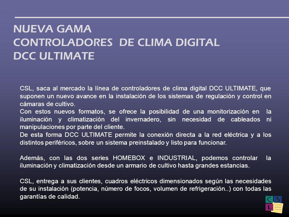 CSL, saca al mercado la línea de controladores de clima digital DCC ULTIMATE, que suponen un nuevo avance en la instalación de los sistemas de regulac