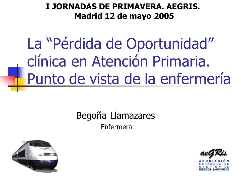 La Pérdida de Oportunidad clínica en Atención Primaria.