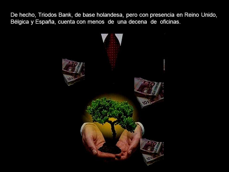 Actualmente en España, estrictamente hablando, existen dos bancos éticos: Triodos Bank y Fiare. Por una parte el Triodos Bank, dispone de una sucursal