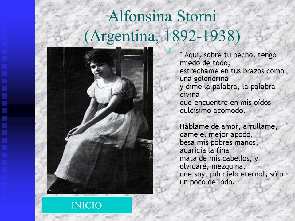 Alfonsina Storni (Argentina, 1892-1938)