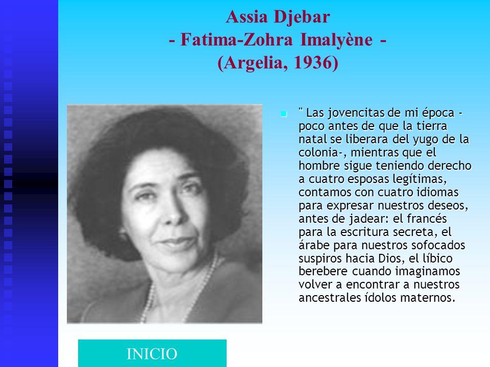 Assia Djebar - Fatima-Zohra Imalyène - (Argelia, 1936)