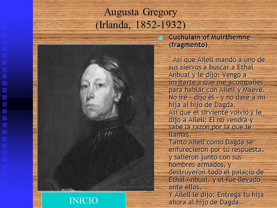 Augusta Gregory (Irlanda, 1852-1932) Cuchulain of Muirthemne (fragmento)