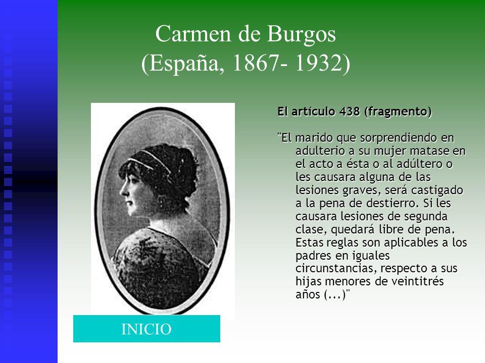 Carmen de Burgos (España, 1867- 1932) El artículo 438 (fragmento)