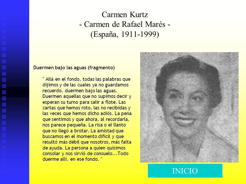 Carmen Kurtz - Carmen de Rafael Marés - (España, 1911-1999) Duermen bajo las aguas (fragmento)