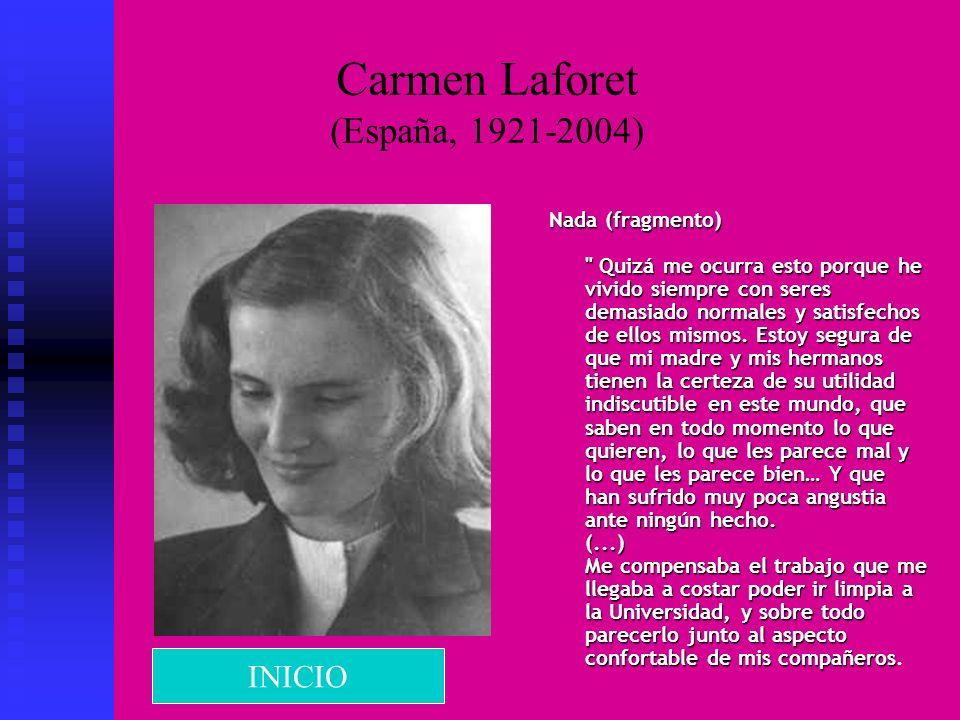 Carmen Laforet (España, 1921-2004) Nada (fragmento)