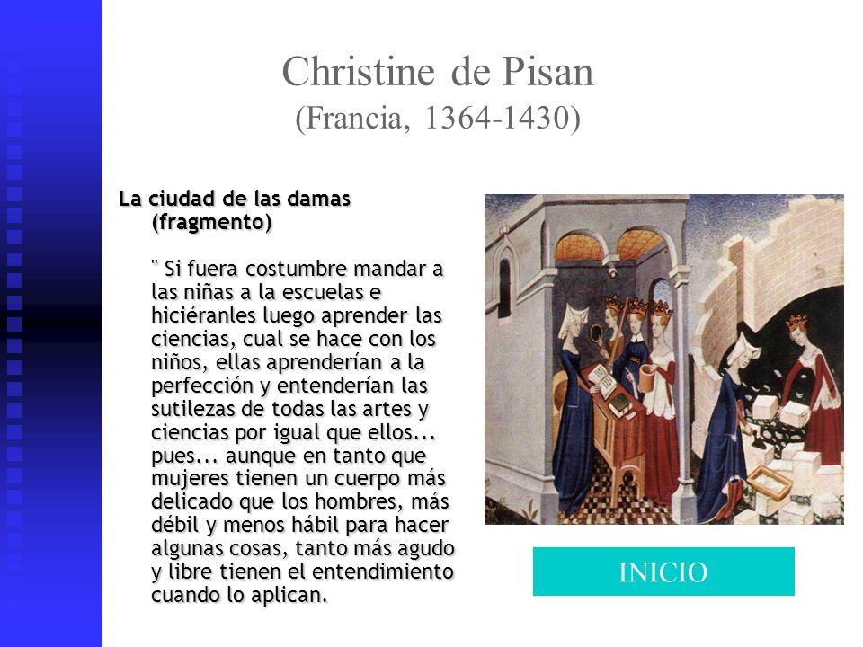 Christine de Pisan (Francia, 1364-1430) La ciudad de las damas (fragmento)