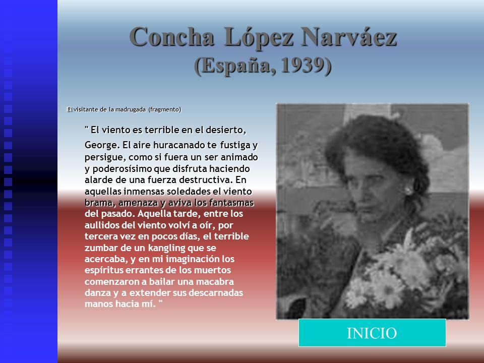 Concha López Narváez (España, 1939) El visitante de la madrugada (fragmento)