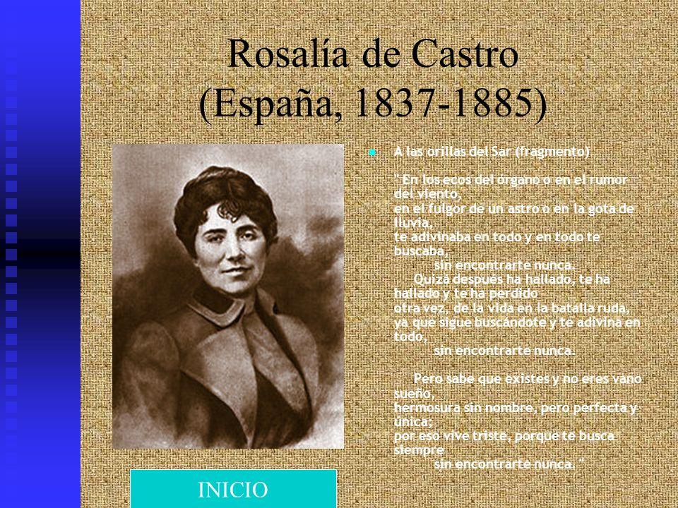 Rosalía de Castro (España, 1837-1885) A las orillas del Sar (fragmento)