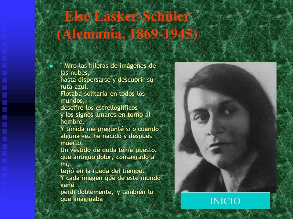 Else Lasker-Schüler (Alemania, 1869-1945)