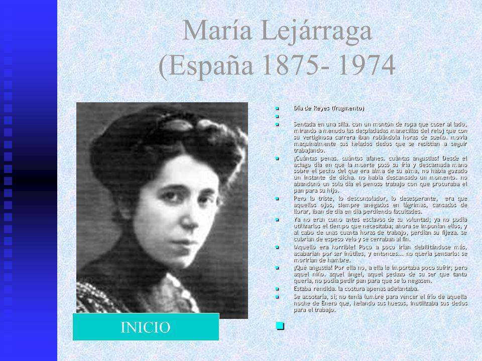 María Lejárraga (España 1875- 1974 Día de Reyes (fragmento) Sentada en una silla. con un montón de ropa que coser al lado, mirando a menudo las despia