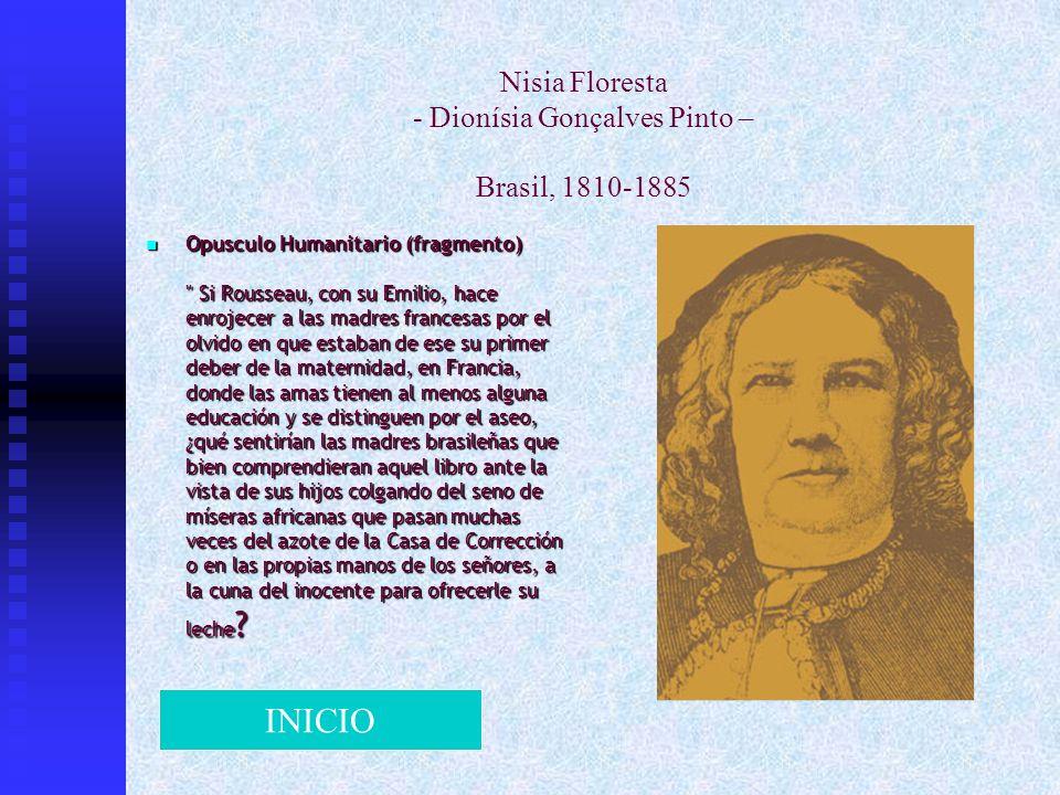 Nisia Floresta - Dionísia Gonçalves Pinto – Brasil, 1810-1885 Opusculo Humanitario (fragmento)