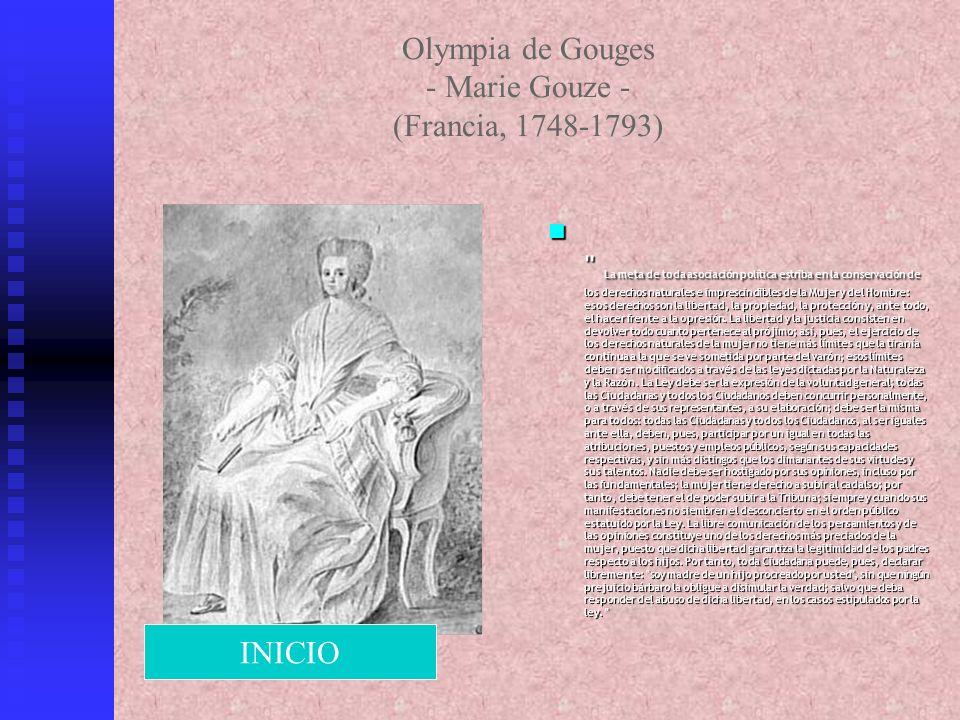 Olympia de Gouges - Marie Gouze - (Francia, 1748-1793)