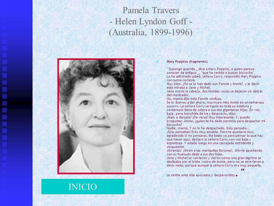 Pamela Travers - Helen Lyndon Goff - (Australia, 1899-1996) Mary Poppins (fragmento)